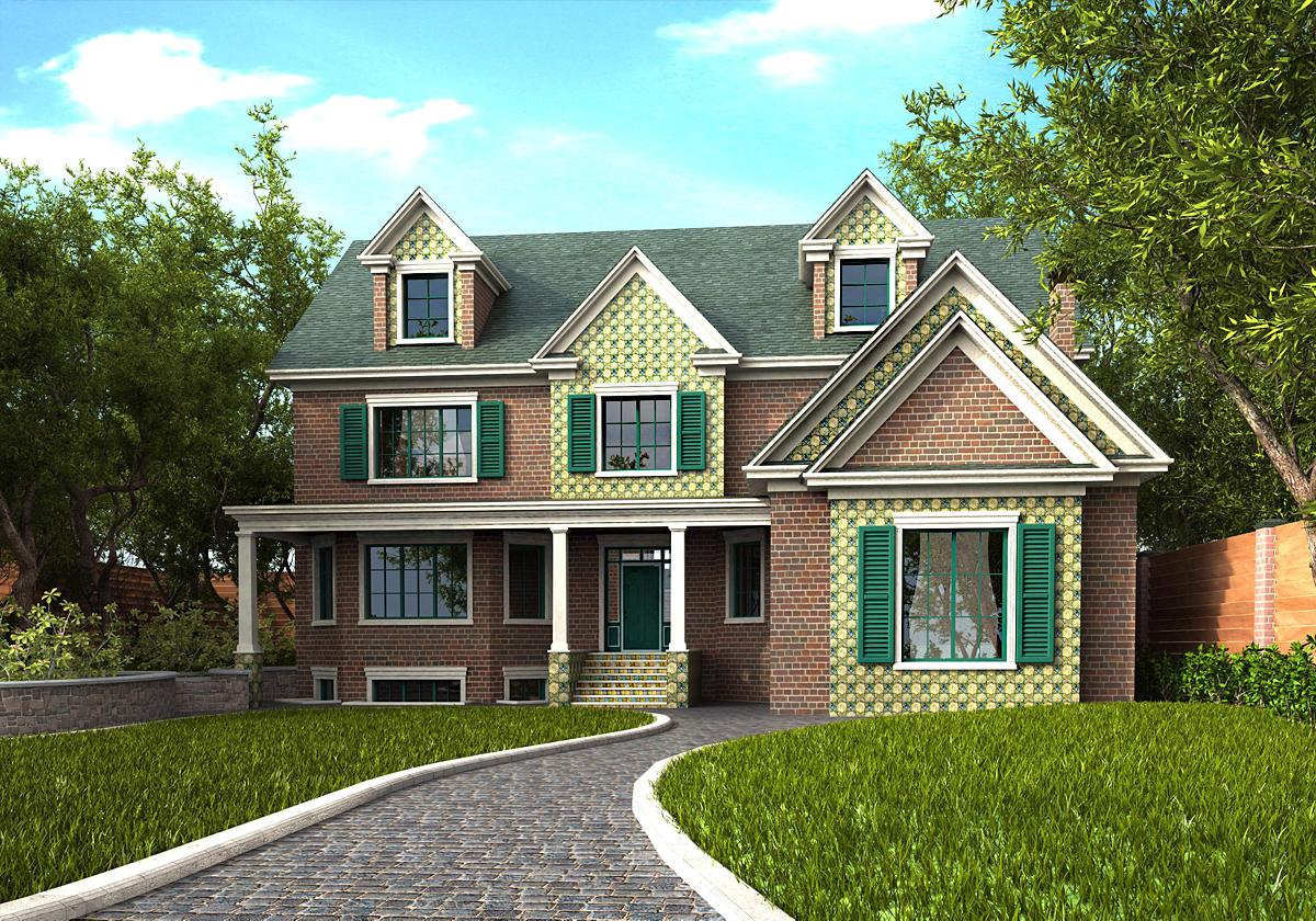 Фото модели загородных домов