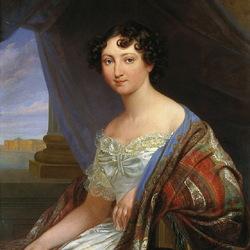 Пазл онлайн: Портрет великой княгини Анны Павловны