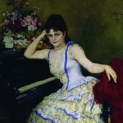 Пазл онлайн: Портрет пианистки С.И.Ментер