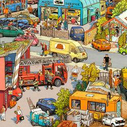 Пазл онлайн: Городской транспорт