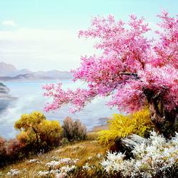 Пазл онлайн: Розовый цвет
