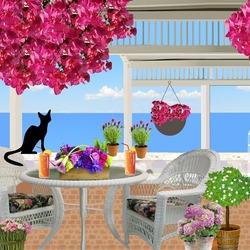 Пазл онлайн: Жил да был черный кот