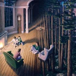 Пазл онлайн: Лес внутри