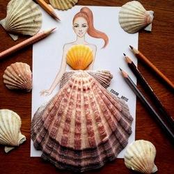 Пазл онлайн: Платье из ракушек