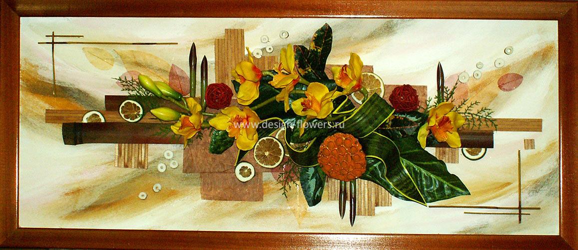 Флористические картины коллажи композиции своими руками