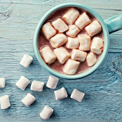 Пазл онлайн: Какао и зефир