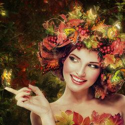 Пазл онлайн: Осенняя бабочка