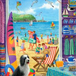 Пазл онлайн: Дверь на пляж