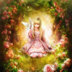 Пазл онлайн: Розовая арка
