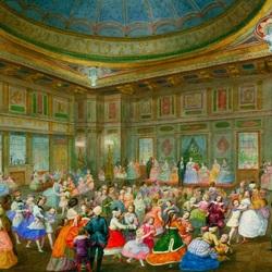 Пазл онлайн: Детский маскарад в Буккингемском дворце