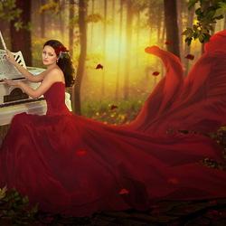Пазл онлайн: Белый рояль