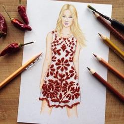 Пазл онлайн: Платье из перца