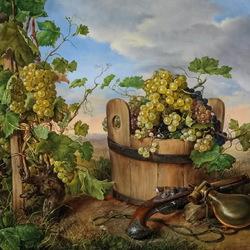 Пазл онлайн: Спелый виноград