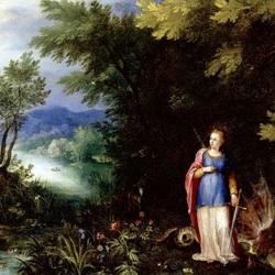 Пазл онлайн: Святая Маргарита и дракон