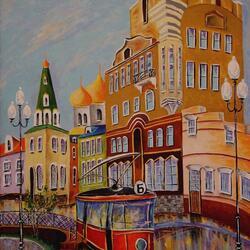 Пазл онлайн: Первый трамвай