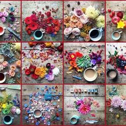 Пазл онлайн: Цветы и напитки