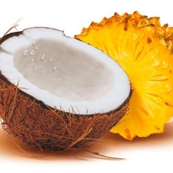 Пазл онлайн: Кокос и ананас