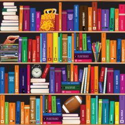 Пазл онлайн: Книжные полки