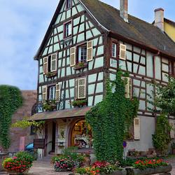 Пазл онлайн: Красочный дом