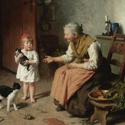 Пазл онлайн: С бабушкой