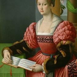 Пазл онлайн: Девушка с книгой