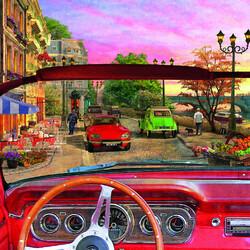 Пазл онлайн: Париж из автомобиля