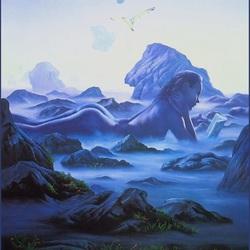 Пазл онлайн: Синий туман