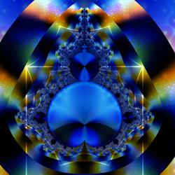 Пазл онлайн: Голубой