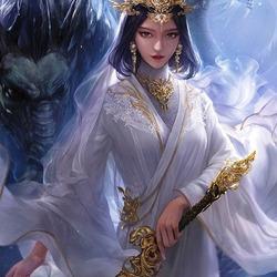Пазл онлайн: Хозяйка дракона