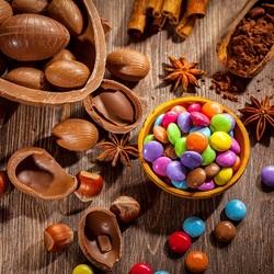 Пазл онлайн: Шоколадные яйца