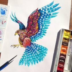 Пазл онлайн: Птица