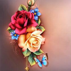 Пазл онлайн: Летние розы