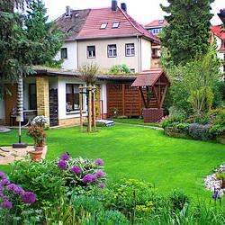 Пазл онлайн: Зеленый дворик