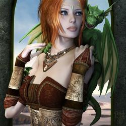 Пазл онлайн: Хранительница дракона