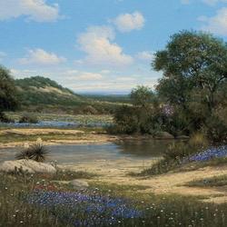 Пазл онлайн: Тихая река