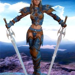 Пазл онлайн: Госпожа мечей