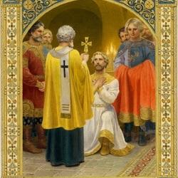 Пазл онлайн: Князь Владимир - Крещение
