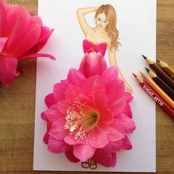 Пазл онлайн: Цветок кактуса