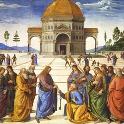 Пазл онлайн: Вручение ключей апостолу Петру