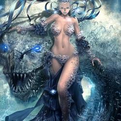 Пазл онлайн: Людмила, хранитель морского дракона
