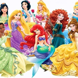 Пазл онлайн: Прекрасные принцессы