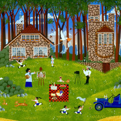 Пазл онлайн: Пикник у  Дома на холме