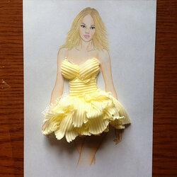 Пазл онлайн: Платье из масла