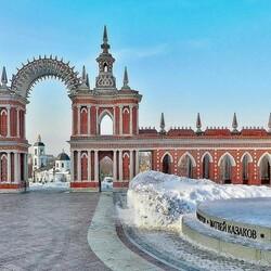 Пазл онлайн: Зимой в Царицыно