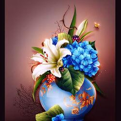 Пазл онлайн: Синяя ваза