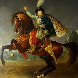 Пазл онлайн: Конный портрет князя Бориса Юсупова