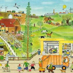 Пазл онлайн: Весна на ферме