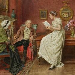 Пазл онлайн: Чтение письма