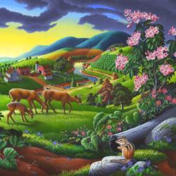 Пазл онлайн: Страна ферм