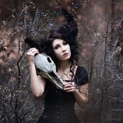 Пазл онлайн: Темная дева